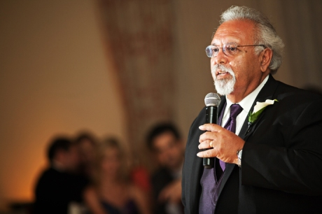 Father of Groom Speech Terranea Resort Wedding Reception