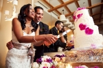 Cake Cutting at Terranea Resort Wedding Reception