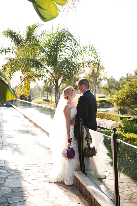 Bride and Groom at Old Ranch Country Club