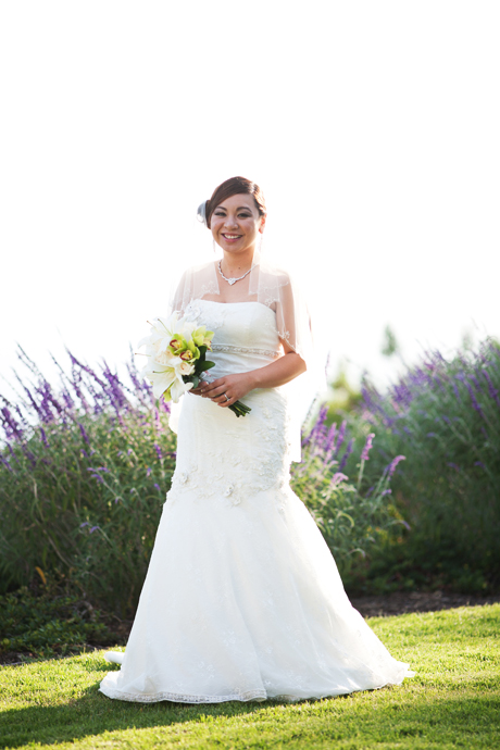 Bride at Wayfarers Chapel Wedding