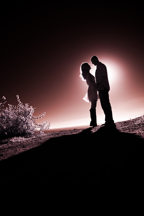 Infrared Engagement Pictures in Laguna Beach