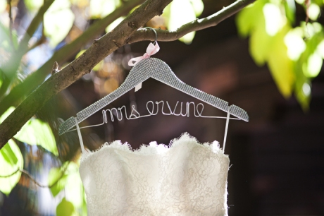 Bride's Dress at Rancho Las Lomas Wedding