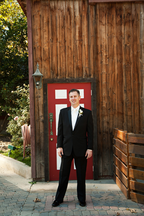 Groom to be at Rancho Las Wedding