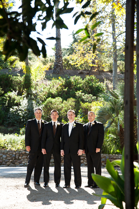 Groom and Guys at Rancho Las Lomas Wedding