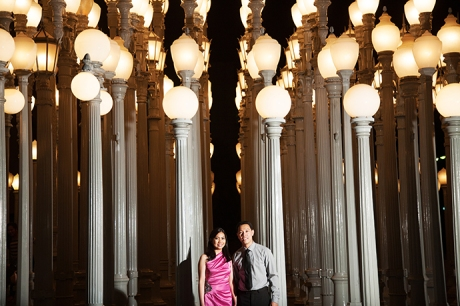LACMA Engagement Photos, LACMA Engagement Pictures, LACMA Engagement Session, Film Photography