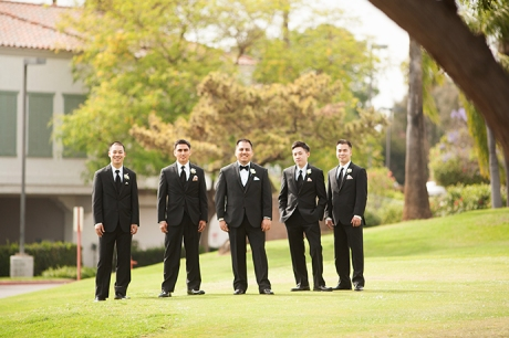 Los Coyotes Country Club Wedding / Groom and Guys