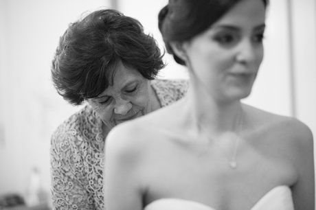 Los Coyotes Country Club Wedding - Bride and Mom
