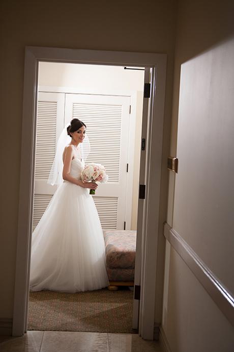 Bride getting ready at Los Coyotes Country Club Wedding