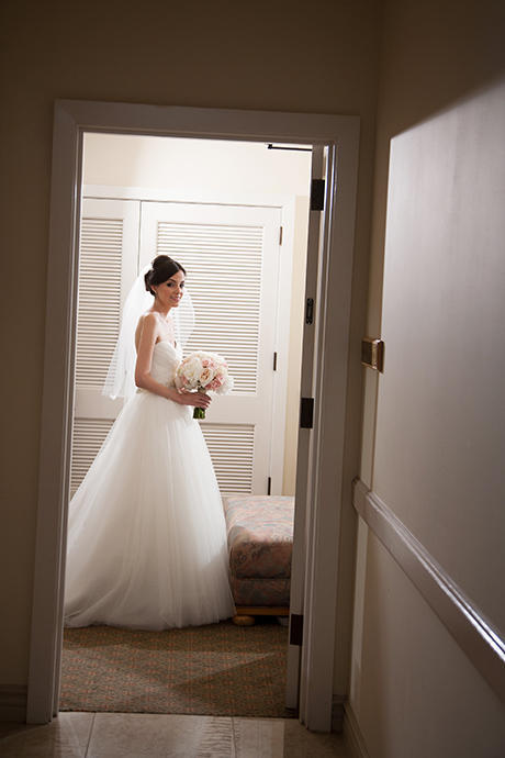 Bride getting ready at Los Coyotes Country Club Wedding