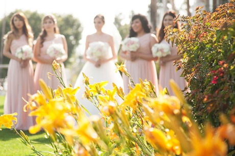 Los Coyotes Country Club Wedding - Bride and Girls