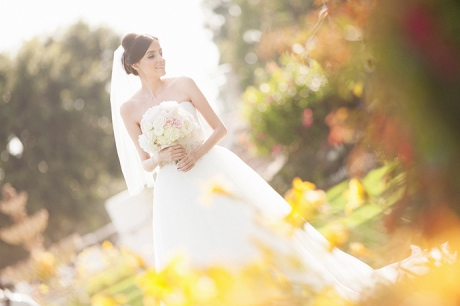 Bride at Los Coyotes Country Club Wedding