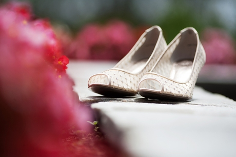 Bride's shoes at Dove Canyon Country Club Wedding