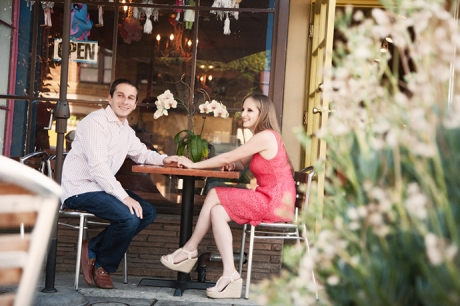 Casual Engagement Pictures at Larchmont Village Los Angeles