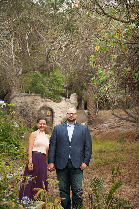 Malaga Cove Libray Engagement Pictures / Palos Verdes