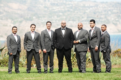 Terranea Resort Wedding / Groom and Guys
