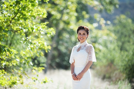 Bride at James Dilley Wilderness Park