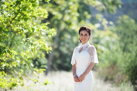 Bride at James Dilley Wilderness Park