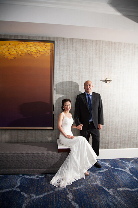 Bride and Groom at the Newport Beach Marriott