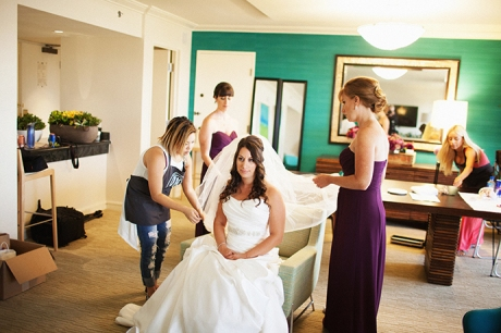 Hotel Irvine Wedding - Bride Getting Ready