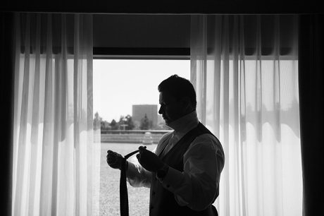 Hotel Irvine Wedding - Grooom Getting Ready