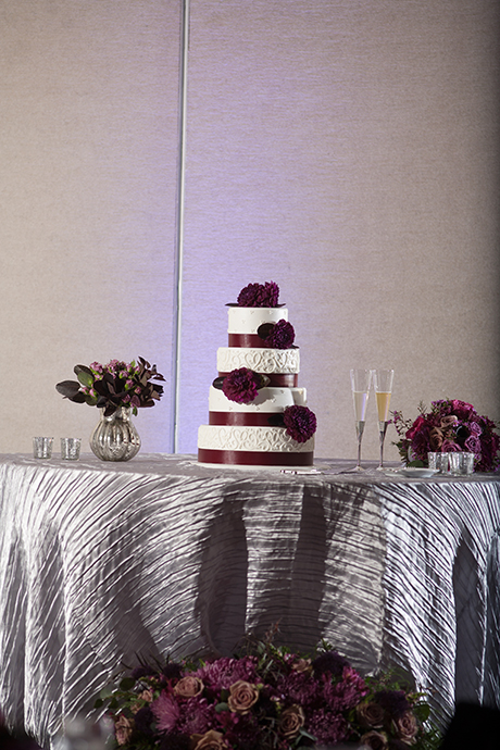 Hotel Irvine Wedding Reception - Wedding Cake