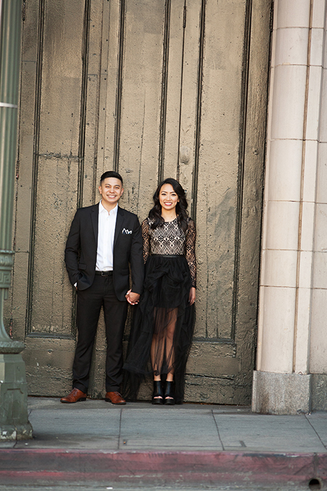 Downtown Los Angeles Engagment Pictures