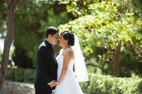 Bride and Groom at Newport Beach Marriott
