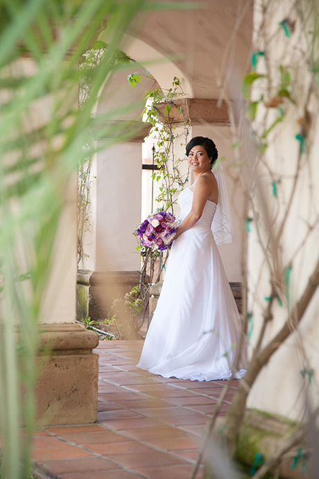 Bride at Turnip Rose Wedding