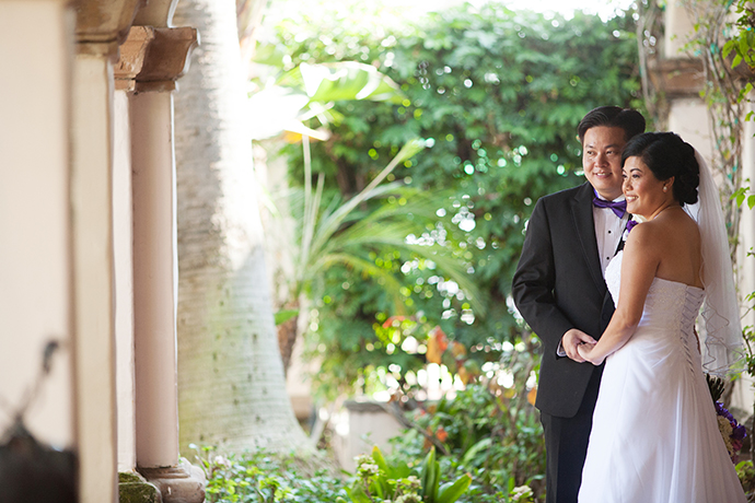Bride and Groom at Turnip Rose Wedding