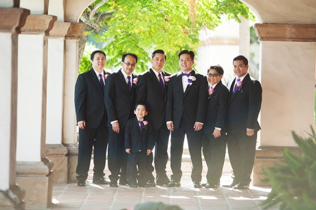 Groom and Guys at Turnip Rose Wedding