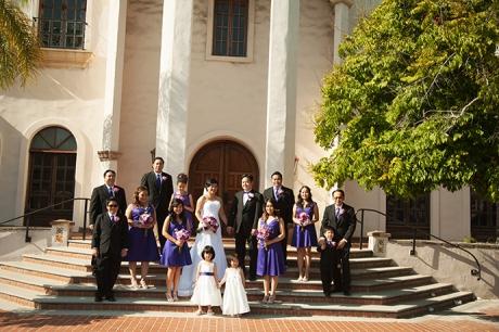 Bridal Party at Turnip Rose Wedding