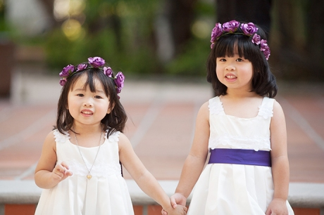 Flower Girls at Turnip Rose Wedding