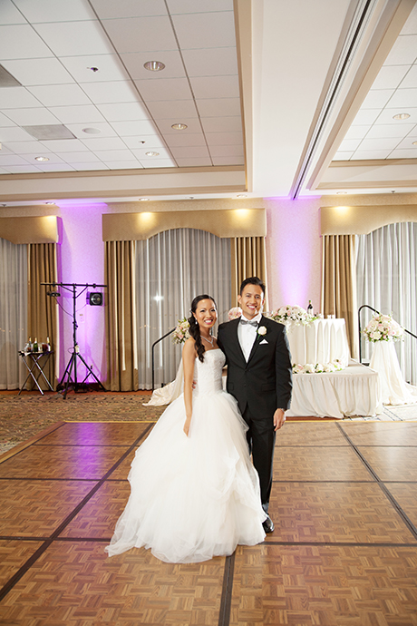 Anaheim HIlls Country Club Wedding Reception - Bride and Groom