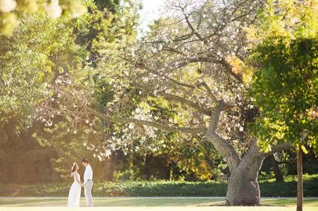 Los Angeles Arboretum Engagement Pictures