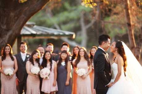 Wedding Party at Yorba Linda Regional Park