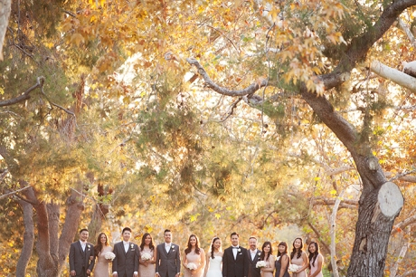 Bridal Party at Yorba Linda Regional Park