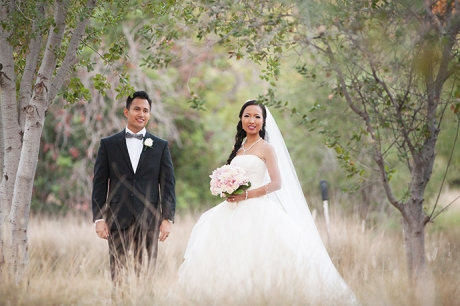 Bride and Groom at Yorba Linda Regional Park