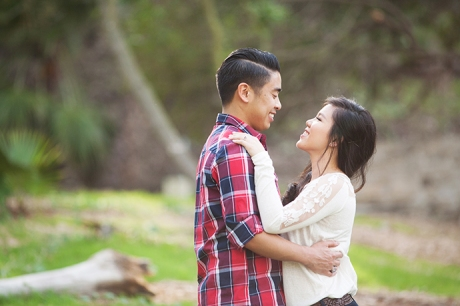Malaga Cove Library Engagement Photography