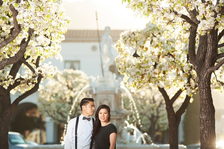 Malaga Cove Plaza Engagement Pictures