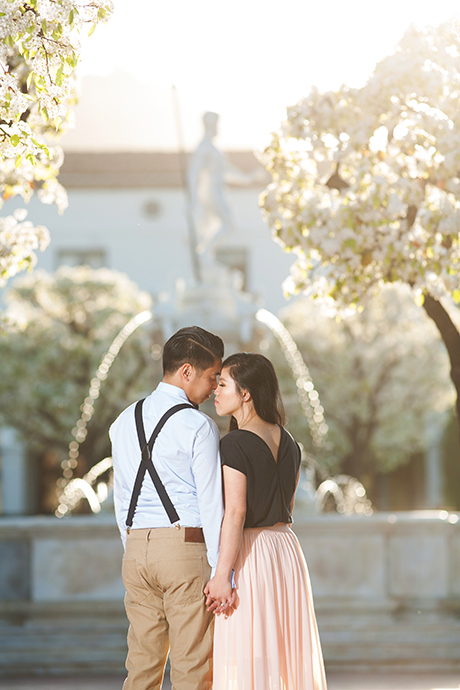 Malaga Cove Plaza Engagement Photography