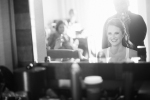 Bride getting ready at Newport Beach Marriott Bayview