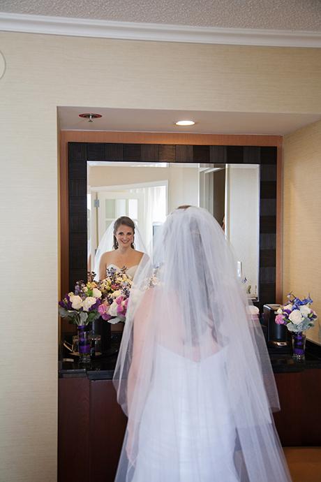 Weddign preceremony at Newport Beach Marriott Bayview