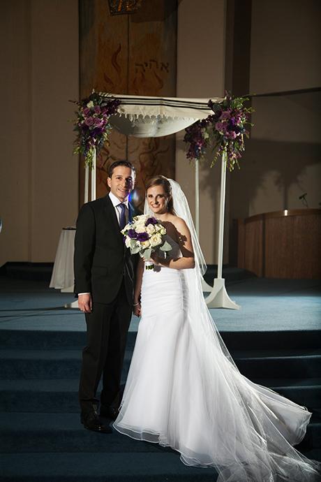 Temple Bat Yahm Wedding - Bride and Groom