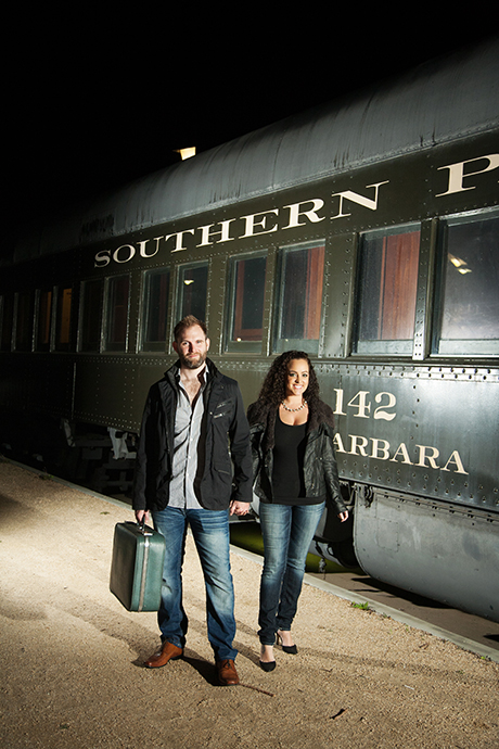 Santa Barbara Train Station Engagement Pictures