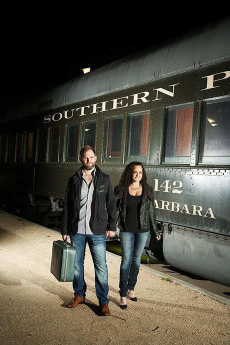 Santa Barbara Train Station Engagement Pictures
