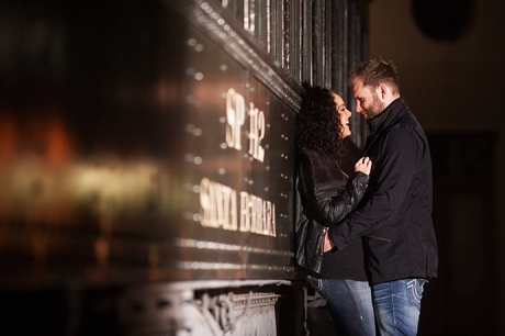 Engagement Pictures Train Station