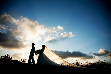 Bella Collina San Clemente Wedding Pictures Sunsete