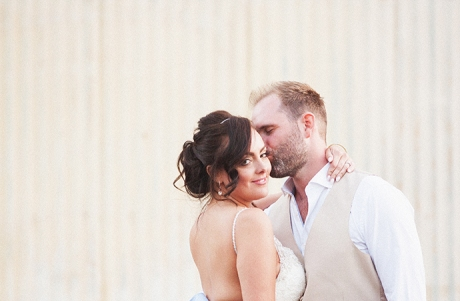 Bride and Groom Downtown Santa Barbara