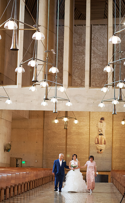 Cathedral of Our Lady of the Angels Wedding Ceremony