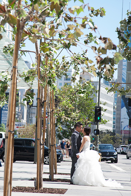 Bride and Groom Downtown Los Angeles